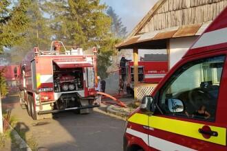 Incendiu puternic la mănăstirea Agafton din Botoșani