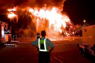 Incendiu devastator în Mamaia. Un popular club de pe litoral a căzut pradă flăcărilor