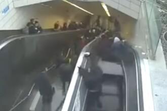 """Momentul în care un bărbat este """"înghițit"""" de scările rulante. VIDEO"""