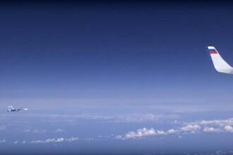 Un avion de vânătoare NATO s-a apropiat de aeronava ministrului rus al Apărării