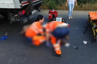 Grav accident în Arad. Un TIR a lovit mortal un copil și a rănit o femeie