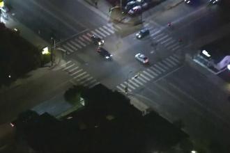 Urmărire ca în filme pe străzile de la Hollywood. Scene incredibile filmate din elicopter