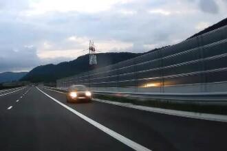 22 de km de autostradă s-au dovedit prea complicați pentru un șofer. Filmat pe contrasens