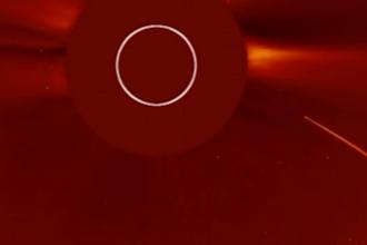 Momentul în care o cometă s-a prăbuşit în Soare a fost înregistrat. VIDEO