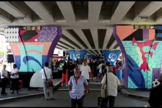 Cea mai mare galerie de artă stradală din România este în București, pe un pod