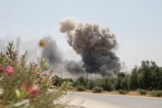 11 civili au fost uciși de aviația rusă și siriană. Printre victime se află 6 copii