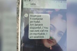 """Mesaj suspect trimis de pe telefonul Luizei. Bunicul: """"Cineva folosește cartela"""""""