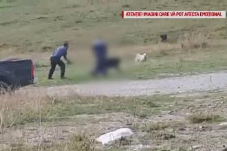 Bărbat filmat în timp ce lovește cu bâta un câine ciobănesc. Ce explicație a dat