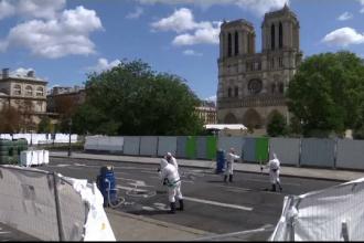 Sute de tone de plumb, topite în incendiul de la Notre-Dame. Ce fac acum autoritățile
