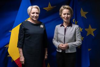 Dăncilă a discutat cu Ursula von der Leyen despre viitorul comisar european al României
