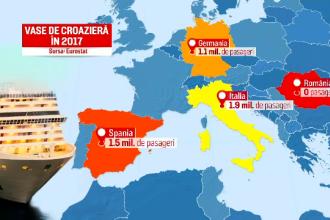 7 milioane de turiști europeni pleacă în croaziere, însă niciunul nu ajunge în România