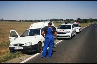 Scenă ca în filme în Constanţa. 2 tineri au amenințat cu arma un șofer ca să-i fure mașina