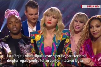 Taylor Swift, premiu pentru cel mai bun videoclip al anului. Ce mesaj transmite