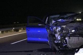 Trei răniţi grav, după o întrecere între maşini pe A3, în Mureş