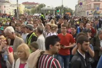 """Protest la Moscova împotriva """"represiunii"""" și pentru eliberarea """"deţinuţilor politici''"""