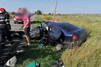Impact devastator în Sibiu. 5 răniți după ce un șofer de 18 ani a intrat în alte 2 mașini
