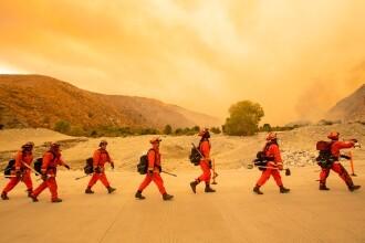"""VIDEO. Incendiu uriaș în California. Mii de pompieri se luptă să stingă """"Apple Fire"""""""