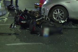 Moarte cumplită pentru un motociclist, în București. Ce s-a întâmplat