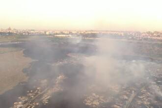 Dezastrul provocat de incendiul din zona Ghencea. Imagini cu drona
