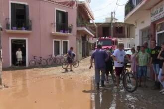 Inundaţii devastatoare în insula grecească Evia. Șapte persoane au murit