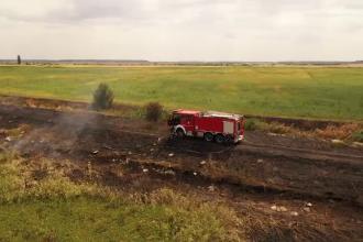 Poluare în Ilfov după incendiul de la o fostă fermă de porci. Garda de Mediu spune că doar miroase urât