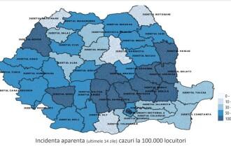 Raport INSP: Cele 15 județe care înregistrează un trend ascendent al infectărilor cu coronavirus