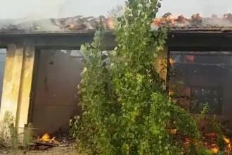 Alertă în Târgoviște, după un incendiu violent produs chiar lângă noul mall