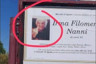 Viral. Cum apare o bătrână care a murit la 84 de ani pe monumentul funerar
