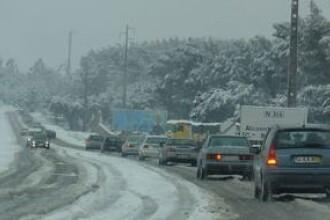 Iarna grea in Europa! 300 de accidente intr-o singura noapte, in Germania