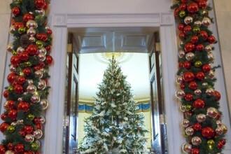 Bradul de Craciun de la Casa Alba are 2,5 m si a fost decorat in 4 zile