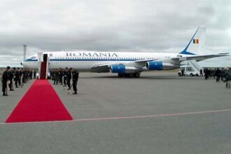 Aeronava lui Traian Basescu, tinuta la sol din cauza unor probleme tehnice