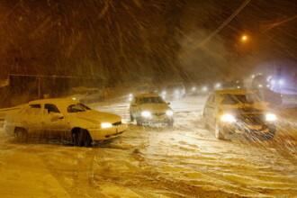 Trecerea prin Pasul Gutai, o adevarata aventura din cauza ninsorii!