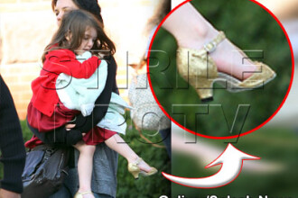 Katie Holmes apara dreptul la pantofi cu toc al lui Suri!