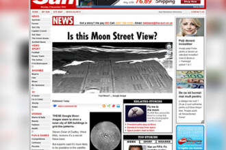 Imagini Google Moon controversate! Pe Luna exista un oras?
