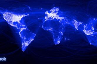 Harta Pamantului in prietenii Facebook! Vezi ce orase sunt interconectate