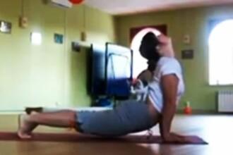 Cel mai bun partener de Yoga al unei femei. Se muleaza pe trup. VIDEO