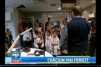 Copiii din Valea Screzii au venit sa ne colinde. Campania Salveaza Craciunul a strans 60.000 euro