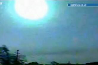 O minge de foc a traversat cerul Americii in viteza.