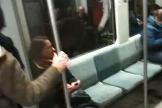 VIDEO. Aparitie neasteptata la metrou. O tanara blonda a luat prin surprindere calatorii