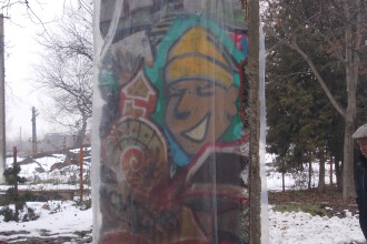 O bucata din Zidul Berlinului a ajuns la Timisoara. Aceasta reprezinta simbolul caderii comunismului