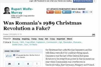 Huffington Post:Romania a fost condusa din 1989 de