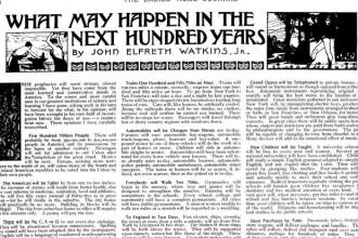 Cum arata viitorul acum 100 de ani. Predictiile care s-au adeverit