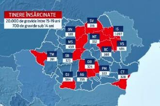 Romania nu da bani pe educatia sexuala. Harta judetelor cu fete ce devin mame inainte de 19 ani