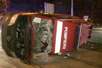 Ambulanta SMURD, implicata intr-un accident in Capitala. Trei paramedici au ajuns la spital