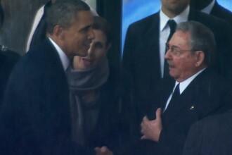 Republicanii, furiosi. Casa Alba afirma ca Barack Obama a schimbat doar banalitati cu Raul Castro