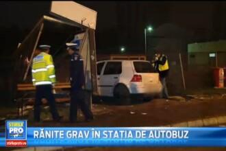 Trei tineri accidentati intr-o statie de autobuz din Mures de un sofer vitezoman