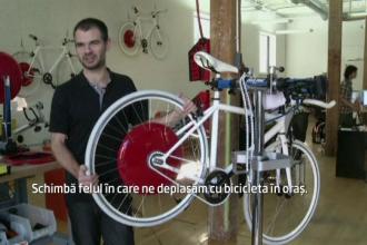 Dispozitivul care transforma orice bicicleta intr-un vehicul electric pe doua roti