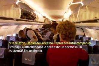 Scene de film intr-un avion care a aterizat in Capitala. O tanara a nascut in timpul zborului