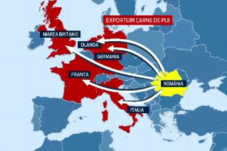 HARTA alimentelor pe care Romania le-a exportat in 2013. Premiera absoluta a ultimilor 23 de ani