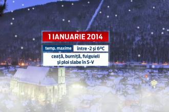 Prognoza meteo de REVELION 2014. Cum va fi vremea pana pe 12 ianuarie